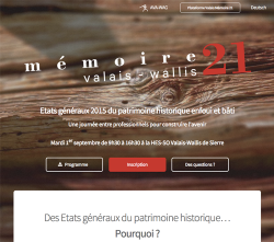 Site internet: Mémoire 21 Valais-Wallis